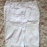 Бежевая юбка карандаш разрез спереди Old Navy Сша, размер С