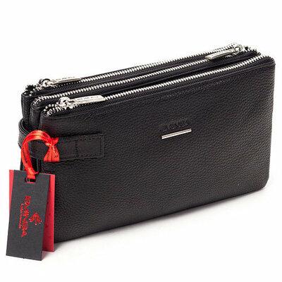 Клатч натуральная кожа барсетка Бесплатная доставка Eminsa Турция 5095-12-1 черный