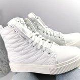 Женские демисезонные ботинки, натур. кожа