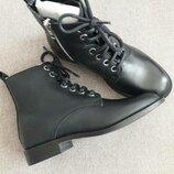 Супер кожаные ботинки со шнуровкой mango рр.13 uк стелька 21.5 см