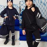 Детский спортивный костюм Нильс черный, синий