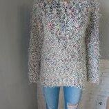 Нарядный свитер травка блестящий