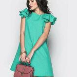 Платье с крылышками платье с воланами платье трапеция