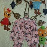 Байковая пижама с Минни на 4-5 лет