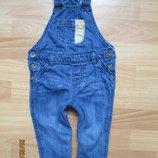 Утеплённый джинсовый комбинзон F&F 12-18 мес