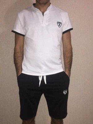 Костюм мужской Ткань шорты -двунитка, футболка-вискоза по 50