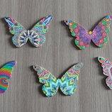 Бабочка деревянная для кулона Серия Палитра