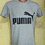 Футболка спортивная Puma светло - серая.