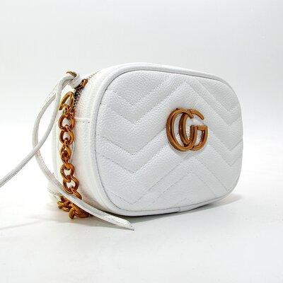 f1a417571048 Сумочка-Клатч через плечо женская кожзам белая Gucci 2063-5: 455 грн ...