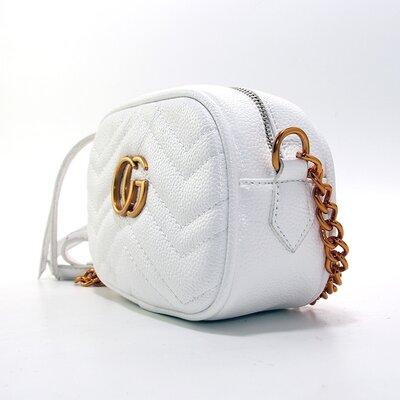 67d4365efd99 Сумочка-Клатч через плечо женская кожзам белая Gucci 2063-5. Previous Next