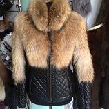 Куртка из натуральной и мехом финского енота под заказ