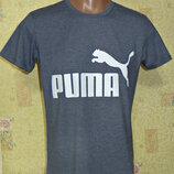 Футболка спортивная Puma джинсовый меланж.