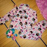Пижама теплая для девочки 2-3года