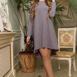 Трикотажное платье с благородным блеском