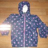 Прорезиненная куртка-дождевик для девочки H&M р. 122-128