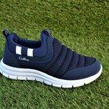 Детские мокасины кроссовки аналог Nike Adidas синие р31-35