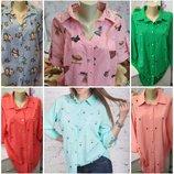 Модные и стильные женские блузки, 2 модельки, 5 расцветок, размер 50, 52, 54, 56, 58. Одна на выбор
