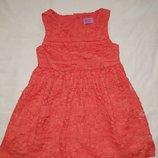 Красивое кружевное платье на девочку 18-24 мес,92 см,сток,F&F