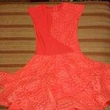 Очень красивое, пишное платье для бально-спортивных танцев