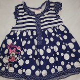 Красивое хлопковое платье на девочку 12-18 мес.,Disney