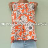 Новая яркая вискозная легкая блуза