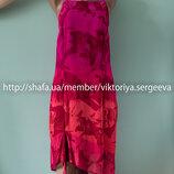 Воздушное вискозное асимметричное платье миди длины