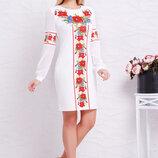 Платье Талина Красные Маки Д/р,размеры S, M, L