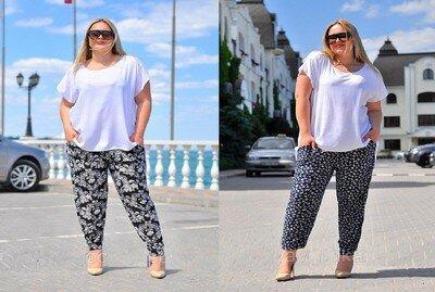 Женские летние брючки c карманами, Супер батал, 52-58 размер. Тоненькие и легкие.
