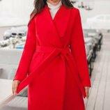 Кашемировое пальто классика 42-60 Бентли на подкладке красное