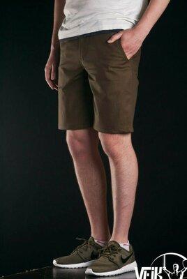 Оригинальные мужские шорты HUGO BOSS р.48 32 коричневые, хлопок 100%