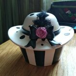 Эксклюзивная шкатулка керамика шляпа