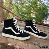 Черные ботинки спортивного кроя