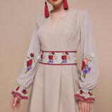 Платье Иванна К Розы Д/р, Размер S, M, L