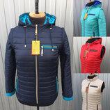 Демисезонные женские куртки-трансформеры, размеры 42-62, разные расцветки