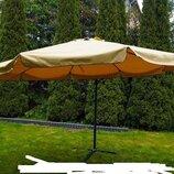 Зонт садовый 3,5 м с мос. сеткой Milano. Польша. М.
