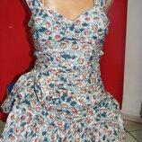 Платье хлопок ромашки 42-44