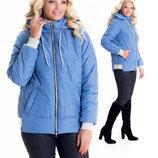 Молодежная куртка от производителя 44-58 размеры sku-10 голубой