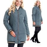 Стильная модная 42-56 размеров куртка-бомбер от производителя качество sku-1 оливка