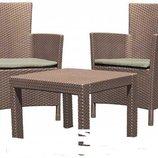 Набор садовой мебели. Набор для террасы Allibert Rosario. Стол 2 кресла. Польша. М.