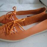 Кожаные туфли-мокасины selecta р.38 италия