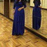 Платье длиное фирменое одето один раз.длина 140см подмышки от 90см и тянется хорошо.рукав длина 40см