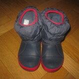 Сапожки, ботинки, дутики Crocs C9 наш 26-27р, стелька -16см