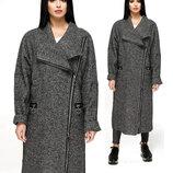 Оригинальное демисезонное пальто fvt-1193-5 Aрт.160406 темно-серый