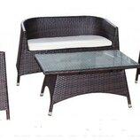 Садовая мебель набор Allibert 4-местный антрацит. Польша. М