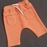 Теплые флисовые штанишки Kiabi Франция для новорожденных размер 52-55