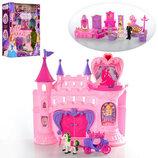 Замок арт SG-2991 принцессы,33-32-11 см,муз,св,мебель,фигурки.