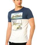 Мужская футболка LC Waikiki / Лс Вайкики с надписью Brooklyn