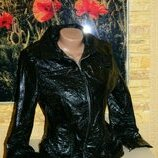 Куртка лаковая блестящая чёрная женская размер 42-44. Подарок
