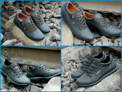 Мужские кожаные туфли кроссовки Экко ECCO biom обувь для повседневной носки