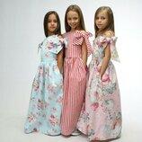 Нежное нарядное платье для девочки хлопок